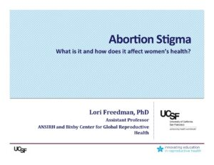 Week 1- Stigma (Freedman)