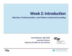 Week 2- Introduction (Steinauer)