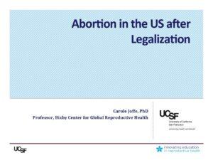 Week 2- US after Legalization (Steinauer)