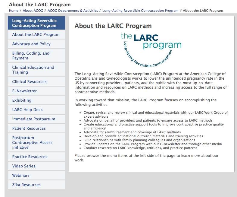 ACOG LARC Program
