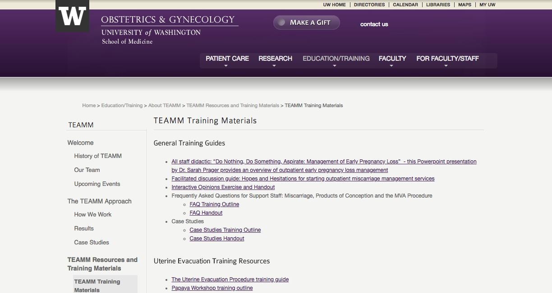 TEAMM Training Materials