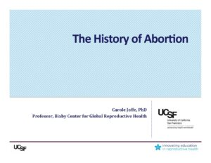 Week 1- HistoryAbortion (Joffe)
