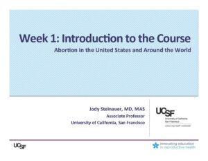 Week1- Intro to the Course (Steinauer)