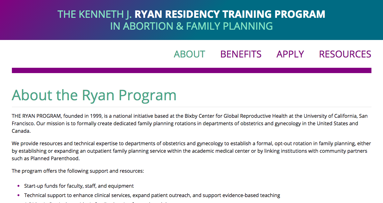 Ryan Program Website