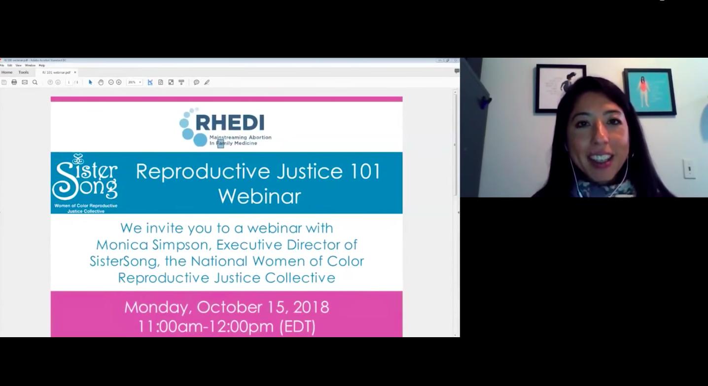 Reproductive Justice 101 Webinar